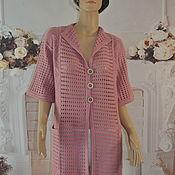 Одежда handmade. Livemaster - original item Summer cardigan, ,50-54p., cotton.. Handmade.