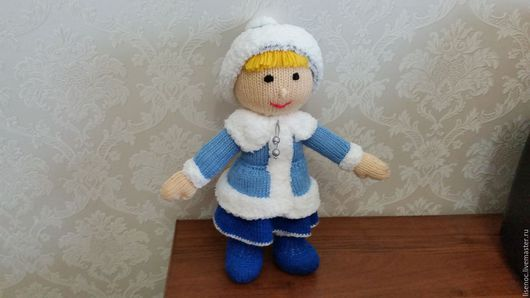 Сказочные персонажи ручной работы. Ярмарка Мастеров - ручная работа. Купить Снегурочка Мягкая вязанная игрушка. Handmade. Вязаная игрушка