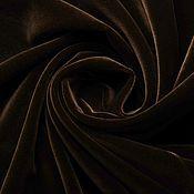 Ткани ручной работы. Ярмарка Мастеров - ручная работа Бархат хлопковый коричневый. Handmade.