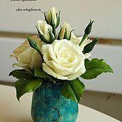 Цветы и флористика ручной работы. Ярмарка Мастеров - ручная работа Букет с розами. Handmade.