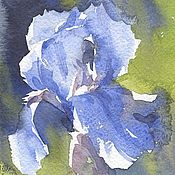 "Картины и панно handmade. Livemaster - original item ""Sunny Iris"" watercolor painting in the frame. Handmade."