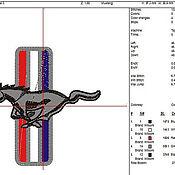 Дизайн и реклама ручной работы. Ярмарка Мастеров - ручная работа форд мустанг дизайн машинной вышивки. Handmade.