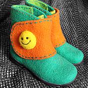 """Работы для детей, ручной работы. Ярмарка Мастеров - ручная работа Детские ботинки - валенки """"Улыбка"""". Handmade."""