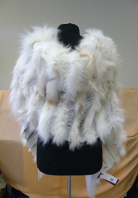 Шали, палантины ручной работы. Ярмарка Мастеров - ручная работа. Купить Палантин из меха серебристо-черной лисы ШТ42. Handmade.