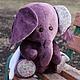 Мишки Тедди ручной работы. Ярмарка Мастеров - ручная работа. Купить Слоненок Мо. Handmade. Слон, слон игрушка, холофайбер