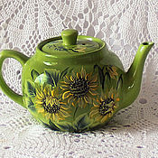 Посуда handmade. Livemaster - original item Ceramic teapot with painted