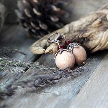 Украшения ручной работы. Ярмарка Мастеров - ручная работа Пыльная роза -серьги. Handmade.
