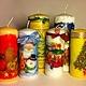 Свечи ручной работы. Новогодние свечи. katarios.decor. Интернет-магазин Ярмарка Мастеров. Новогодний подарок, подарок на новый год