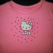 "Работы для детей, ручной работы. Ярмарка Мастеров - ручная работа Футболка ""Hello Kitty"". Handmade."
