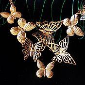 """Винтаж ручной работы. Ярмарка Мастеров - ручная работа Колье """"Бабочки"""". Винтаж из Австралии.. Handmade."""