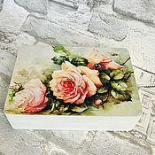 """Шкатулки ручной работы. Ярмарка Мастеров - ручная работа Шкатулка """"Любимые цветы». Handmade."""