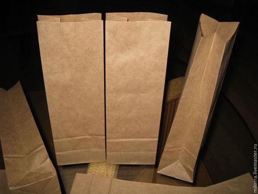 Крафт - пакет с плоским дном  26,5 см х 9 см х 6,5 см