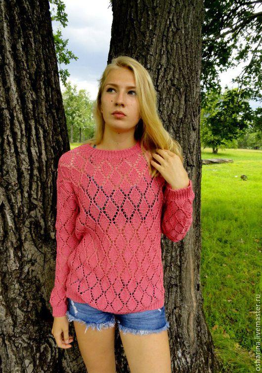 Кофты и свитера ручной работы. Ярмарка Мастеров - ручная работа. Купить СКИДКА 20% Джемпер ...розово-пудровый.... Handmade. Розовый