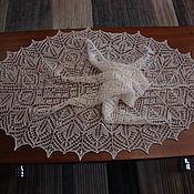 Шали ручной работы. Ярмарка Мастеров - ручная работа Шаль Сцилла, ангора, бисер. Handmade.