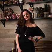 Одежда ручной работы. Ярмарка Мастеров - ручная работа Трикотажное платье свободного кроя. Handmade.
