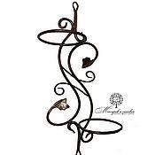 Цветы и флористика handmade. Livemaster - original item Wrought iron wall holder for two pots. Handmade.