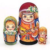 Народная кукла ручной работы. Ярмарка Мастеров - ручная работа Матрешка Андрюша с балалайкой 11см 3м. Handmade.