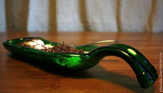 Декоративная посуда ручной работы. Ярмарка Мастеров - ручная работа. Купить чудо-тарелка со скруглённой ручкой. Handmade. Болотный