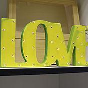 Для дома и интерьера ручной работы. Ярмарка Мастеров - ручная работа Интерьерное слово LOVE. Handmade.