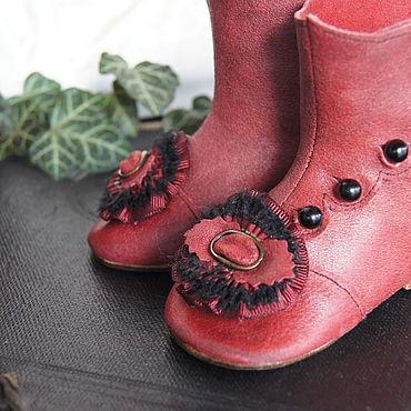 """Куклы и игрушки ручной работы. Ярмарка Мастеров - ручная работа Обувь для Антикварной и современной куклы """"SonataXXL"""". Handmade."""