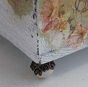 Подарки к праздникам ручной работы. Ярмарка Мастеров - ручная работа Набор из 2-х штук.Деревянный ящик на изящных ножках. Handmade.