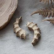 Украшения handmade. Livemaster - original item Ramhorns earrings with silver studs. Handmade.