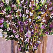 Картины ручной работы. Ярмарка Мастеров - ручная работа «Багульник расцвел» Картина маслом натюрморт цветы. Handmade.