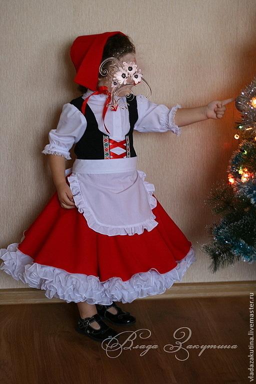 Карнавальные костюмы ручной работы. Ярмарка Мастеров - ручная работа. Купить Красная шапочка. Карнавальный костюм. Handmade. Ярко-красный