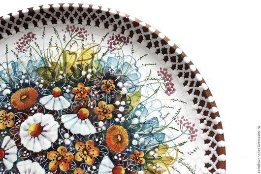 Кухня ручной работы. Ярмарка Мастеров - ручная работа. Купить Керамическая настенная тарелка. Handmade. Керамическая посуда, авторская роспись