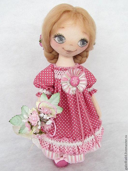 Человечки ручной работы. Ярмарка Мастеров - ручная работа. Купить Кукла МИЛА. Handmade. Розовый, куклы галины шаталовой, шерсть