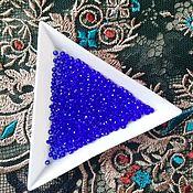Материалы для творчества handmade. Livemaster - original item Glass beads faceted Sapphire 2 mm. Handmade.