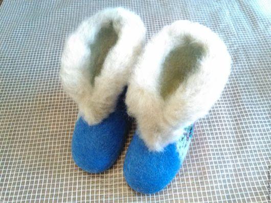 Обувь ручной работы. Ярмарка Мастеров - ручная работа. Купить Валяные чуни.. Handmade. Тёмно-синий