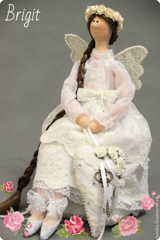 Куклы Тильды ручной работы. Ярмарка Мастеров - ручная работа. Купить Ангел -  хранитель. Handmade. Белый, подарок на день рождения