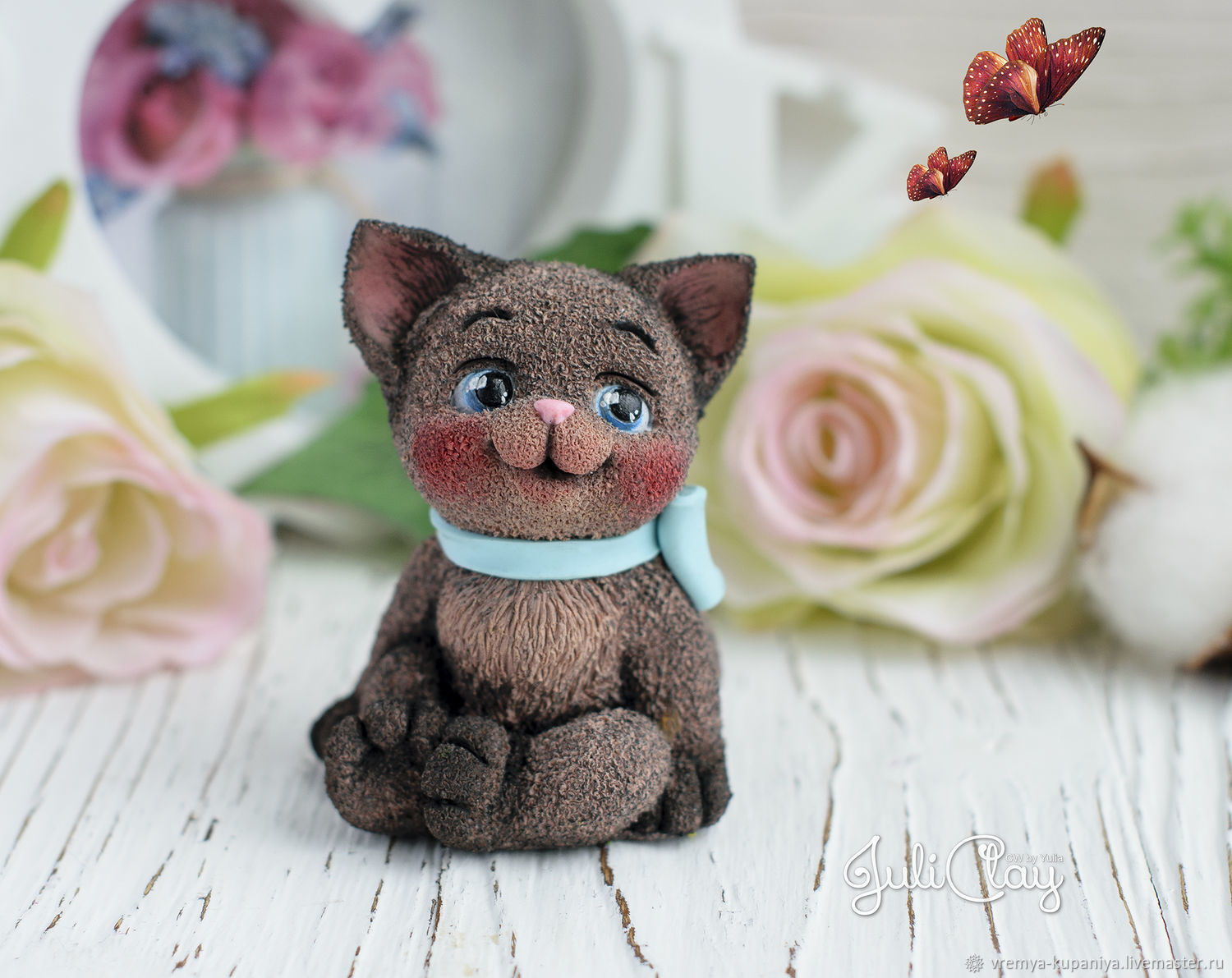 3D Silicone mold 'Kitten with bow'. Copyright form, Form, Vladivostok,  Фото №1