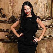 Одежда ручной работы. Ярмарка Мастеров - ручная работа Маленькое черное платье с жемчугом. Handmade.
