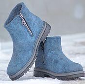 Обувь ручной работы. Ярмарка Мастеров - ручная работа Ботинки валяные зимние. Handmade.