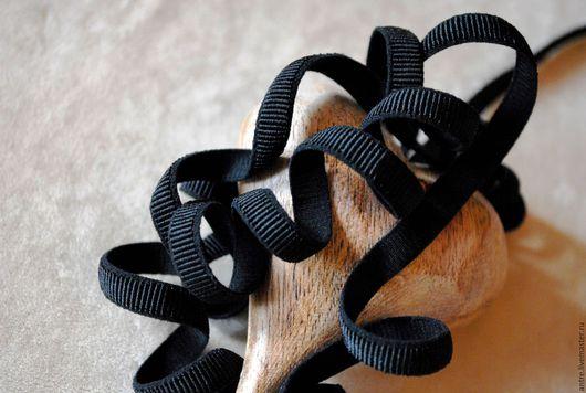 Шитье ручной работы. Ярмарка Мастеров - ручная работа. Купить Резинка Черная (Франция). Handmade. Лента, ленты для украшений, морской
