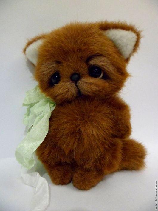 Мишки Тедди ручной работы. Ярмарка Мастеров - ручная работа. Купить Ушастый котенок,15 см. Handmade. Коричневый