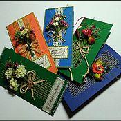 Открытки ручной работы. Ярмарка Мастеров - ручная работа Открытки с букетиками. Handmade.