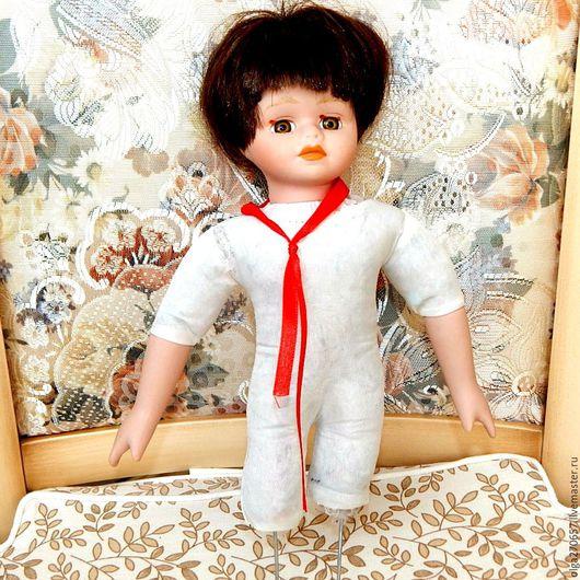 Винтажные куклы и игрушки. Ярмарка Мастеров - ручная работа. Купить Тело куклы с головой и руками винтаж. Handmade. Бежевый