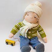 Мягкие игрушки ручной работы. Ярмарка Мастеров - ручная работа Кукла - мальчик для Юлии, 40-42  см. Handmade.