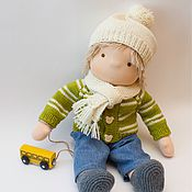 Stuffed Toys handmade. Livemaster - original item The boy doll for Julia, 40-42 cm. Handmade.