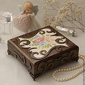 Для дома и интерьера ручной работы. Ярмарка Мастеров - ручная работа Шкатулка для украшений. Handmade.
