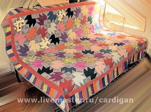 """Текстиль, ковры ручной работы. Ярмарка Мастеров - ручная работа. Купить """"Сolor maple leaves"""". Handmade. Оранжевый, яркие цвета"""