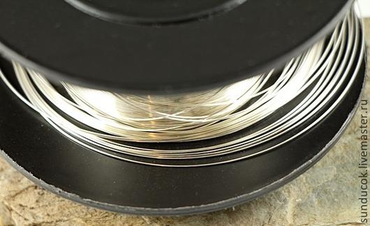 Для украшений ручной работы. Ярмарка Мастеров - ручная работа. Купить 465С Проволока серебрянная 0,4 мм мягкая. Handmade.