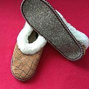 Обувь ручной работы handmade. Livemaster - original item Sheepskin boots, felt sole. Handmade.