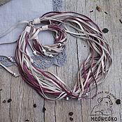 Украшения handmade. Livemaster - original item Jewelry set leather Berry souffle. Handmade.