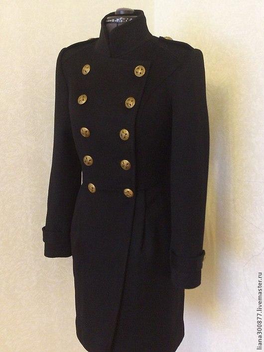 Верхняя одежда ручной работы. Ярмарка Мастеров - ручная работа. Купить Пальто демисезонное.. Handmade. Черный, вискоза, воротник, кокетка