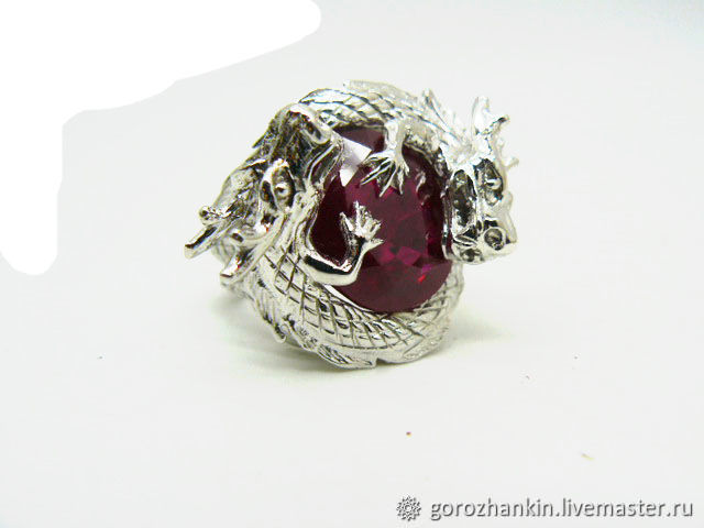 Ring with dragons ruby silver, Hard bracelet, Moscow,  Фото №1