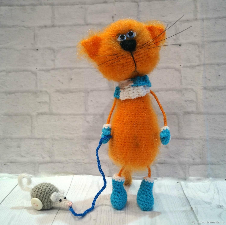 Котик с мышкой, Мягкие игрушки, Елец,  Фото №1